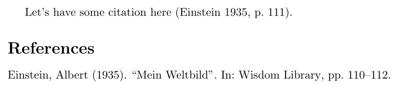 Default citation style